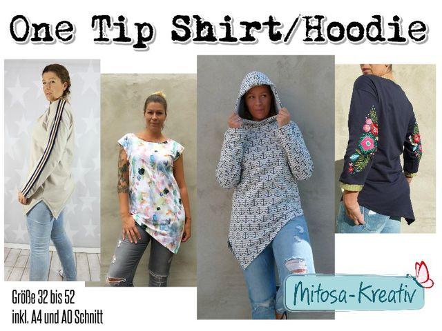 Produktfoto von MiToSa-Kreativ zum Nähen für Schnittmuster One Tip Shirt/Hoodie