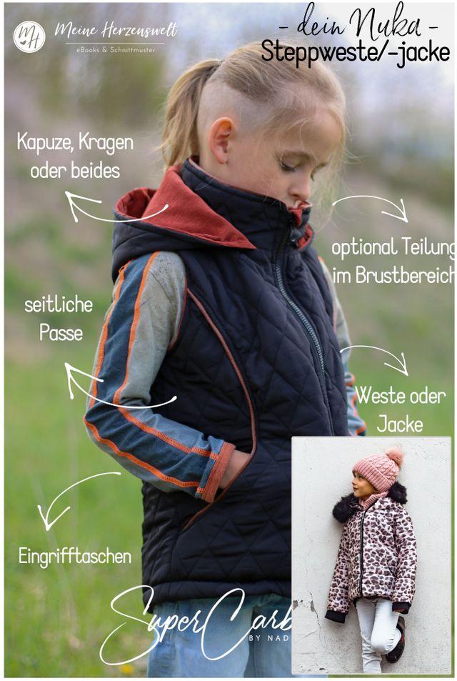 Produktfoto von Meine Herzenswelt zum Nähen für Schnittmuster Steppweste/Jacke Teens - Dein Nuka