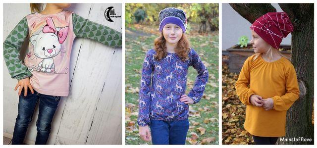 Produktfoto von Engelinchen zum Nähen für Schnittmuster Shirt Sophia goes Schoolgirl