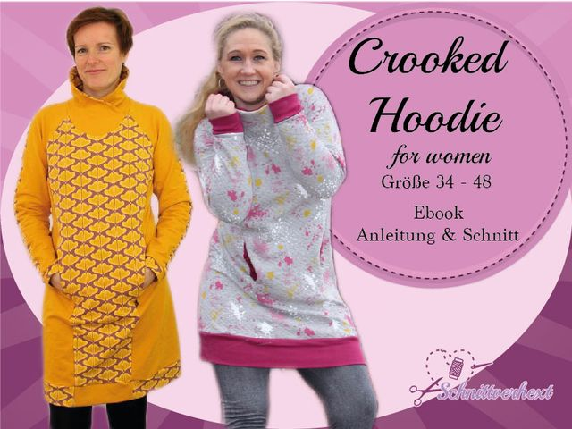 Produktfoto von Schnittverhext für Schnittmuster Crooked Hoodie for women