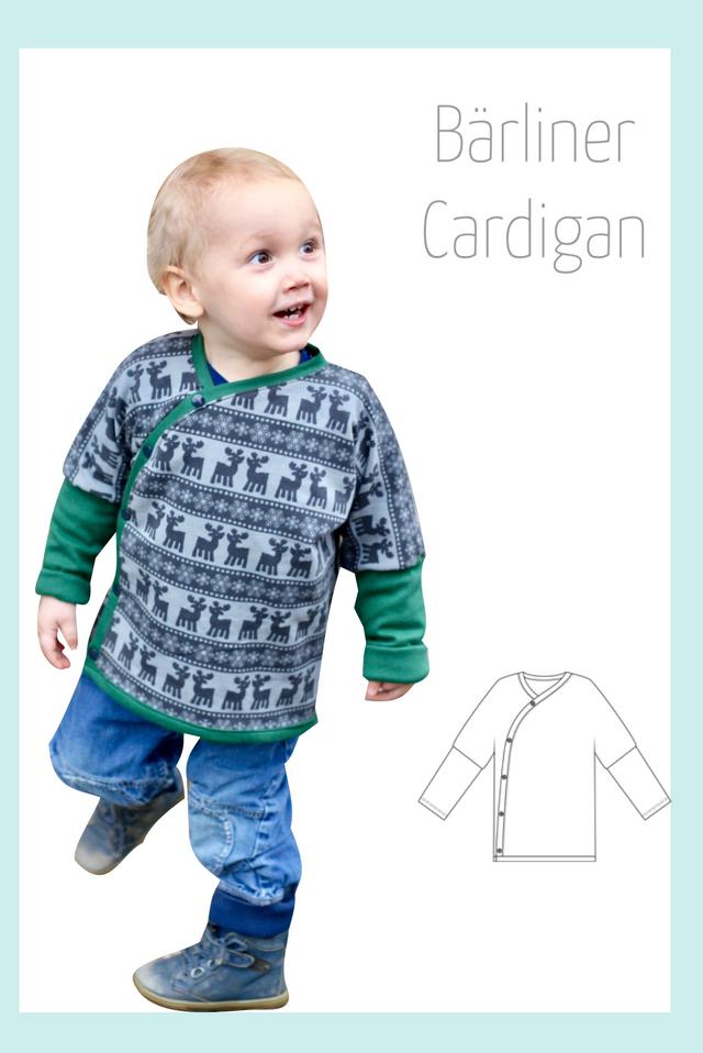 Produktfoto von Berlinerie zum Nähen für Schnittmuster Bärliner Cardigan Kids