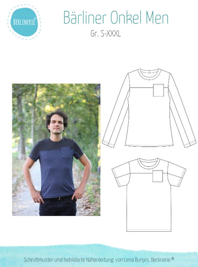 Produktfoto von Berlinerie zum Nähen für Schnittmuster Shirt Bärliner Onkel Men