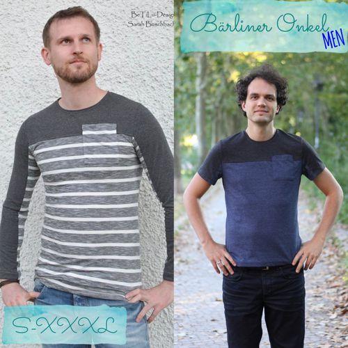 Produktfoto von Berlinerie für Schnittmuster Shirt Bärliner Onkel Men