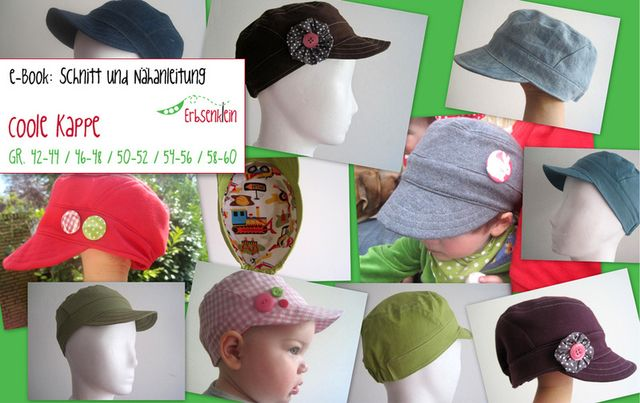 Produktfoto von klimperklein zum Nähen für Schnittmuster Coole Kappe