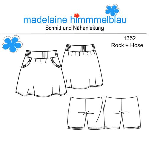 Produktfoto von madelaine himmmelblau zum Nähen für Schnittmuster 1352 Rock + Hose