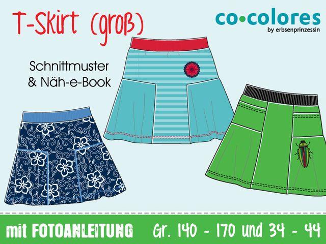 Produktfoto von Erbsenprinzessin zum Nähen für Schnittmuster T-Skirt Jerseyrock