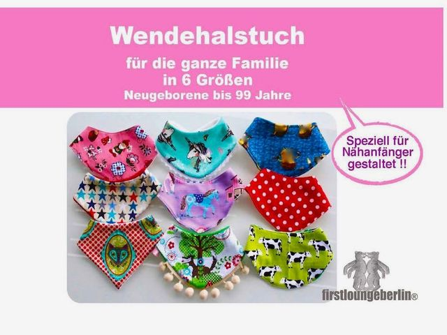 Produktfoto von Firstlounge Berlin für Schnittmuster Wende-Halstuch