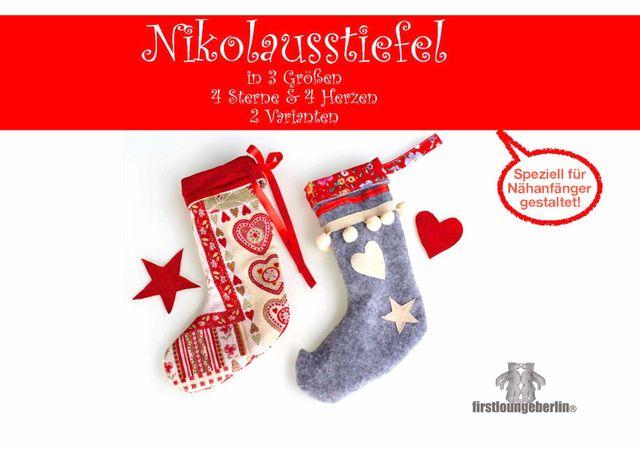 Produktfoto von Firstlounge Berlin zum Nähen für Schnittmuster Nikolausstiefel