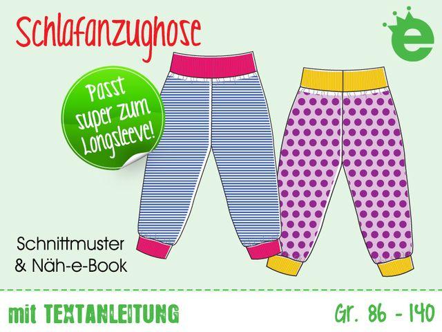 Produktfoto von Erbsenprinzessin zum Nähen für Schnittmuster Schlafanzughose