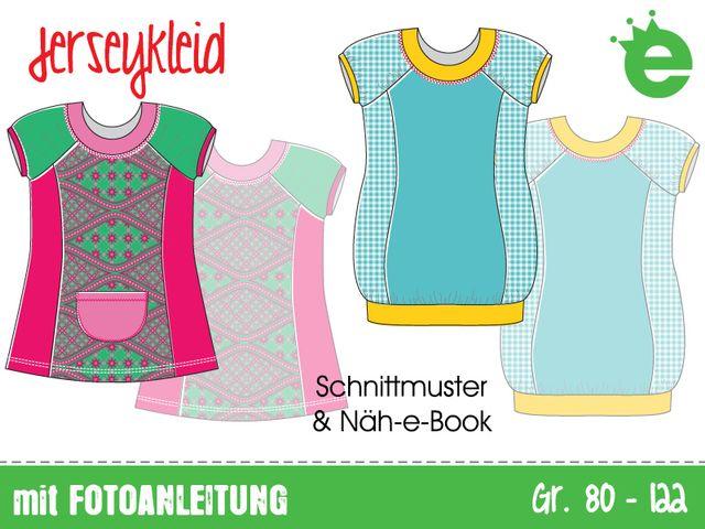 Produktfoto von Erbsenprinzessin zum Nähen für Schnittmuster Jerseykleid