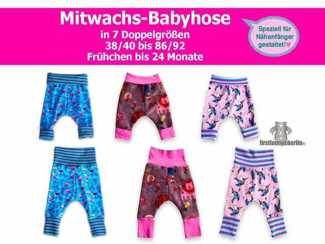 Produktfoto von Firstlounge Berlin für Schnittmuster Mitwachs-Babyhose