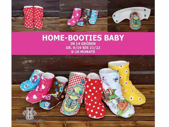 Produktfoto von Firstlounge Berlin zum Nähen für Schnittmuster Home-Booties Babys