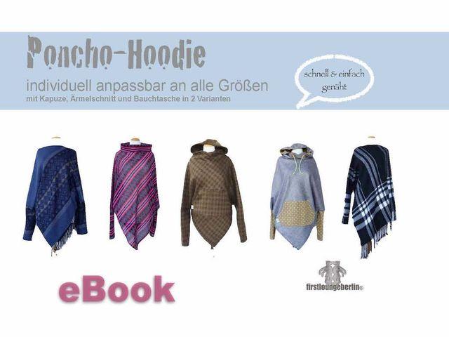Produktfoto von Firstlounge Berlin zum Nähen für Schnittmuster Poncho-Hoodie