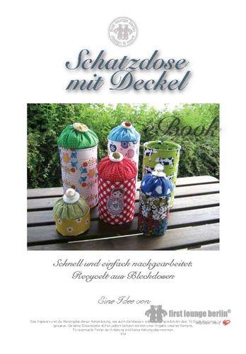 Produktfoto von Firstlounge Berlin zum Nähen für Schnittmuster Schatzdose mit Deckel