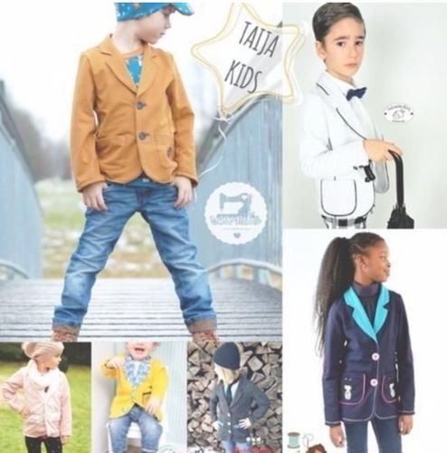Produktfoto von Sara & Julez zum Nähen für Schnittmuster Blazer Taija Kids