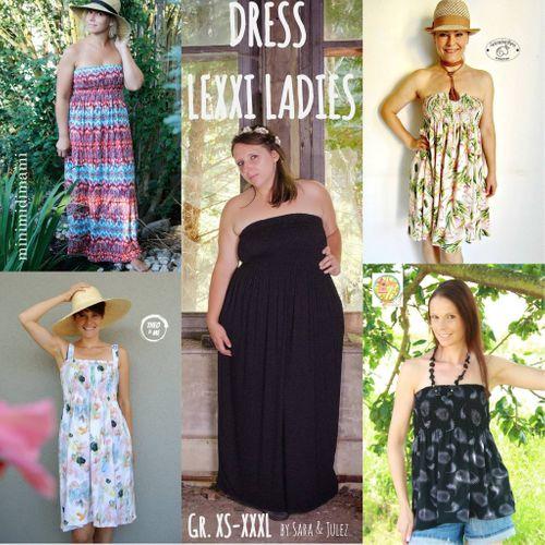 Produktfoto von Sara & Julez zum Nähen für Schnittmuster Sommerkleid/Tunika Lexxi Ladies