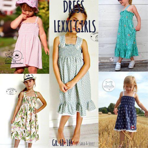 Produktfoto von Sara & Julez zum Nähen für Schnittmuster Sommerkleid/Tunika Lexxi Girls