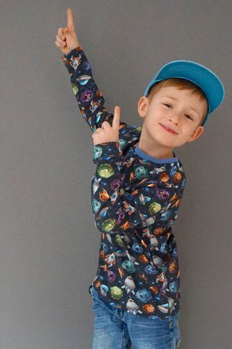 Produktfoto von Windschnittich zum Nähen für Schnittmuster BasicShirt Kinder