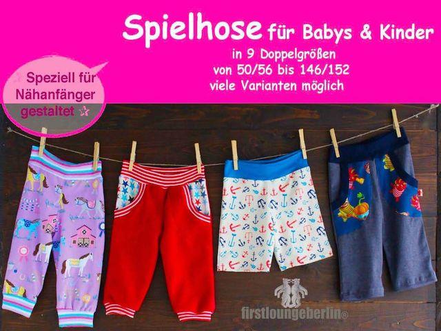 Produktfoto von Firstlounge Berlin für Schnittmuster Spielhose für Babys und Kinder