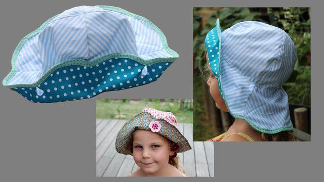 Produktfoto von Kleine Lotta Hohenberg für Schnittmuster Sommerhut Flora