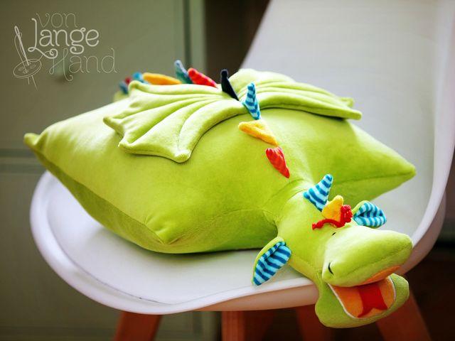 Produktfoto von Von Lange Hand zum Nähen für Schnittmuster Drachenkissen