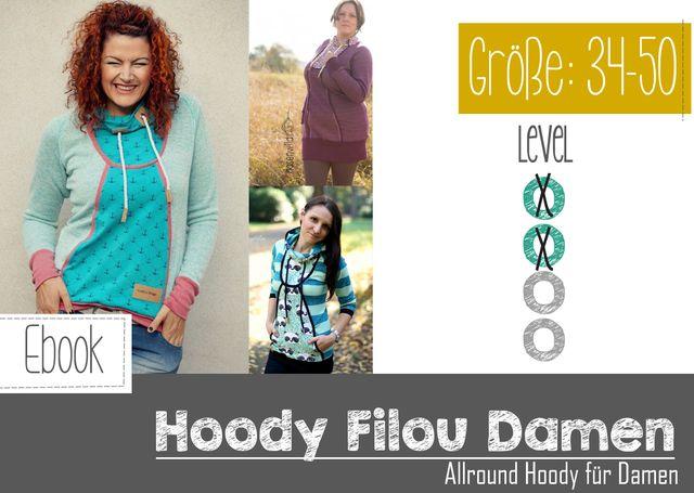 Produktfoto von FeeFee zum Nähen für Schnittmuster Hoody Filou Damen