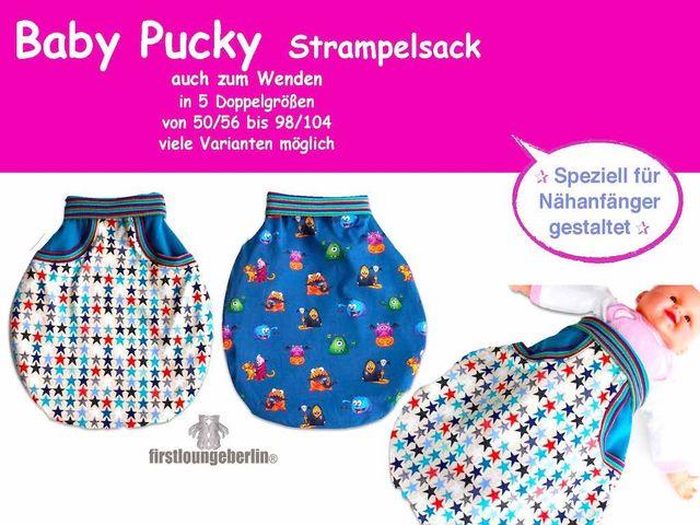 Schnittmuster Baby Pucky Strampelsack von Firstlounge Berlin