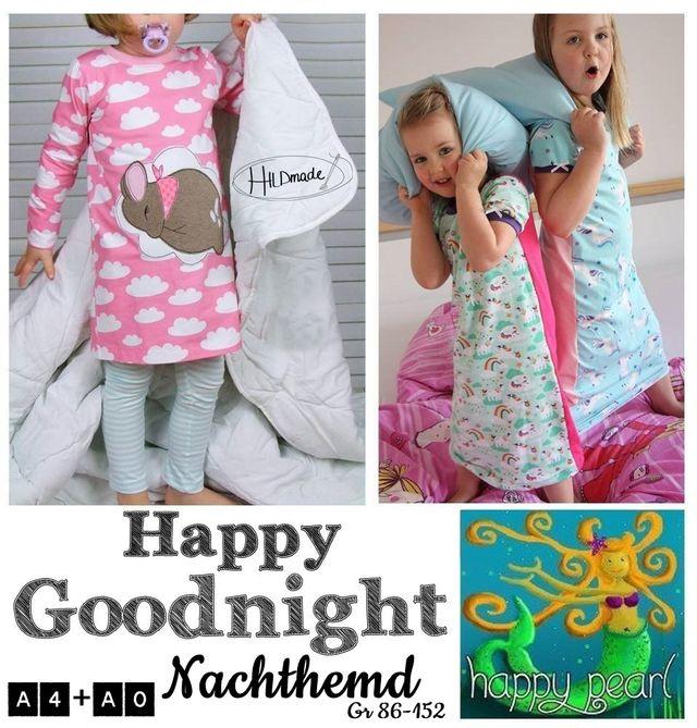Produktfoto von Happy Pearl zum Nähen für Schnittmuster Happy Goodnight Nachthemd