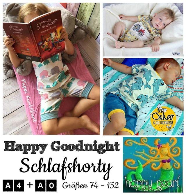 Produktfoto von Happy Pearl zum Nähen für Schnittmuster Happy Goodnight Schlafshorty
