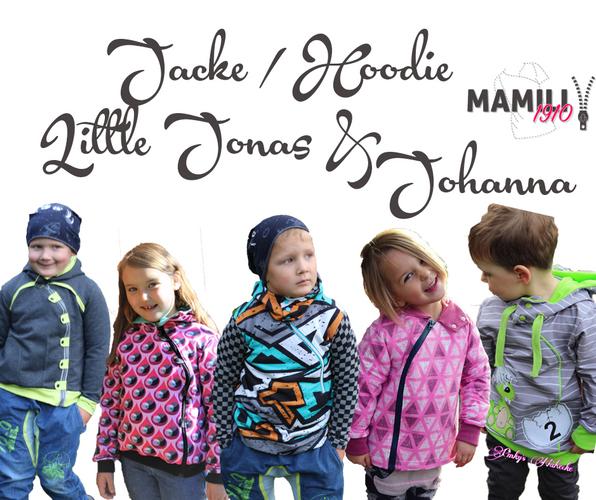 Produktfoto von Mamili1910 für Schnittmuster Jacke/Hoodie Little Jonas & Johanna