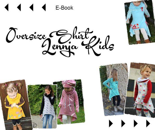 Produktfoto von Mamili1910 für Schnittmuster Oversize Shirt Lennja Kids