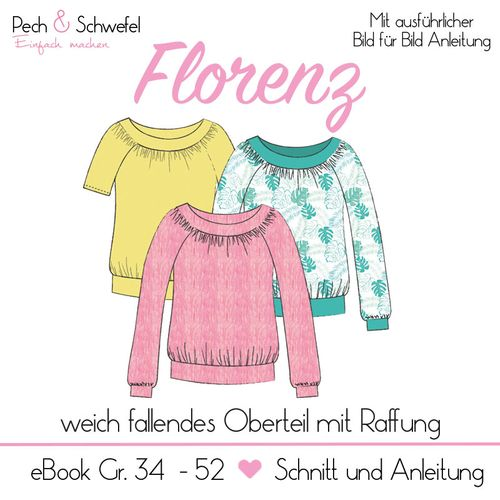 Produktfoto von Pech & Schwefel zum Nähen für Schnittmuster Florenz