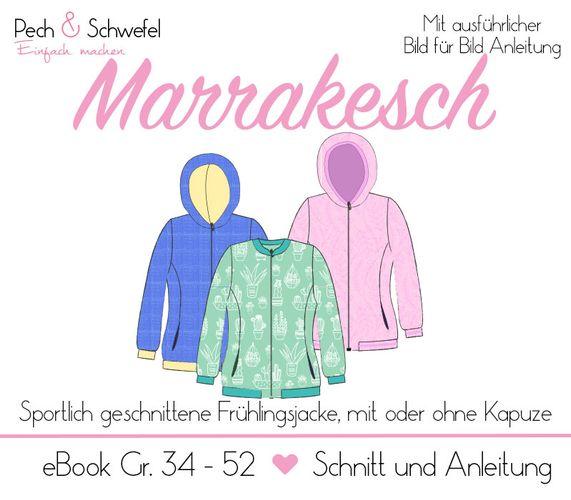 Produktfoto von Pech & Schwefel zum Nähen für Schnittmuster Frühlingsjacke Marrakesch