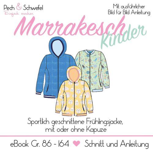 Produktfoto von Pech & Schwefel zum Nähen für Schnittmuster Frühlingsjacke Marrakesch Kinder