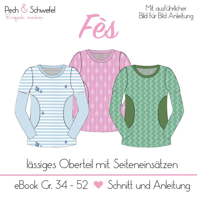 Produktfoto von Pech & Schwefel zum Nähen für Schnittmuster Oberteil Fès