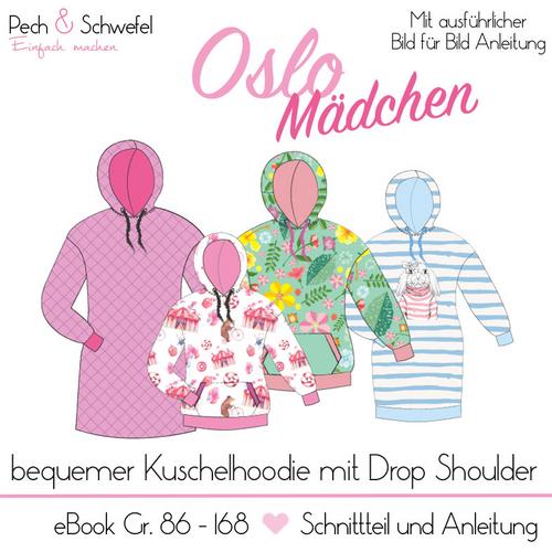 Produktfoto von Pech & Schwefel zum Nähen für Schnittmuster Hoodie Oslo Mädchen