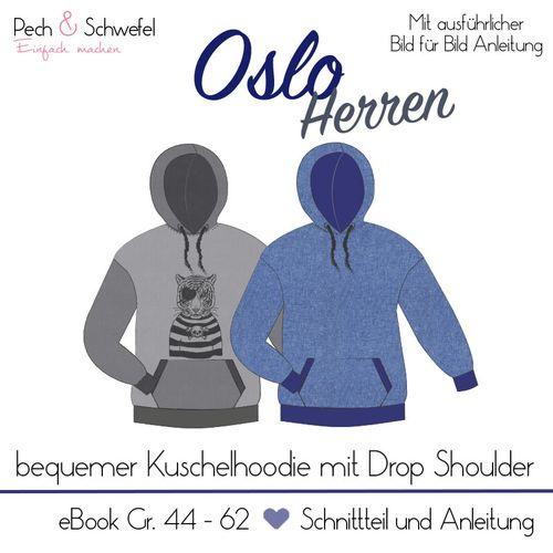 Produktfoto von Pech & Schwefel zum Nähen für Schnittmuster Hoodie Oslo Herren