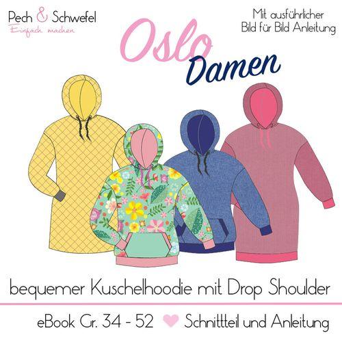 Produktfoto von Pech & Schwefel zum Nähen für Schnittmuster Hoodie Oslo Damen