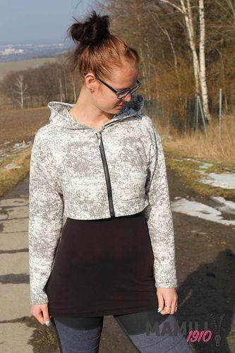 Produktfoto von Mamili1910 zum Nähen für Schnittmuster Kurzpulli/Kurzjacke Jaana
