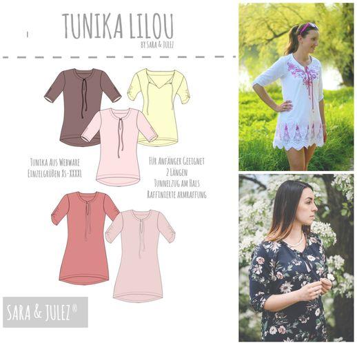 Produktfoto von Sara & Julez zum Nähen für Schnittmuster Tunika Lilou