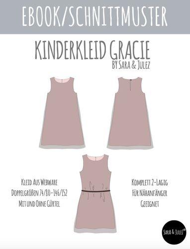 Produktfoto von Sara & Julez zum Nähen für Schnittmuster Kinderkleid Gracie