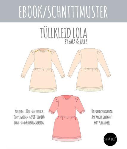 Produktfoto von Sara & Julez zum Nähen für Schnittmuster Tüllkleid Lola