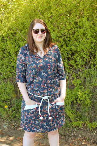 Produktfoto von einfach anziehend für Schnittmuster Blusenkleid Melitta