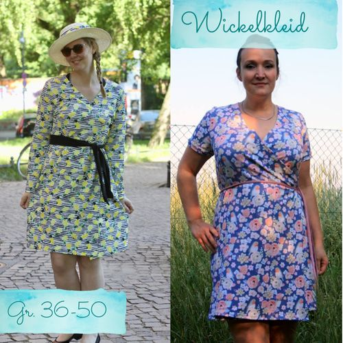 Produktfoto von Berlinerie zum Nähen für Schnittmuster Wickelkleid Damen