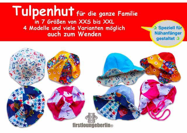 Produktfoto von Firstlounge Berlin zum Nähen für Schnittmuster Tulpenhut