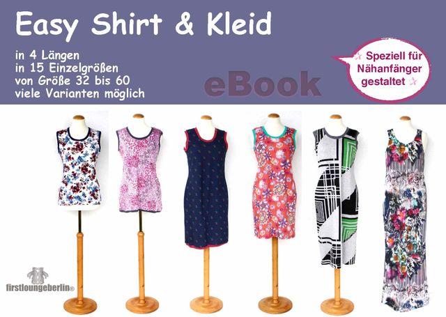 Produktfoto von Firstlounge Berlin zum Nähen für Schnittmuster Easy Shirt & Kleid