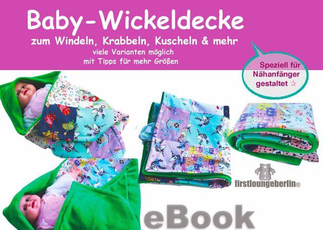 Produktfoto von Firstlounge Berlin zum Nähen für Schnittmuster Baby-Wickeldecke