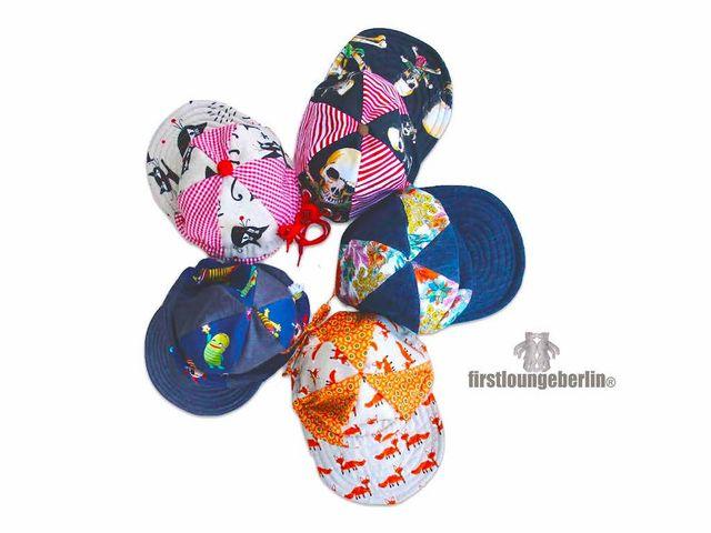 Produktfoto von Firstlounge Berlin zum Nähen für Schnittmuster Schirmmütze mit Nackenschutz
