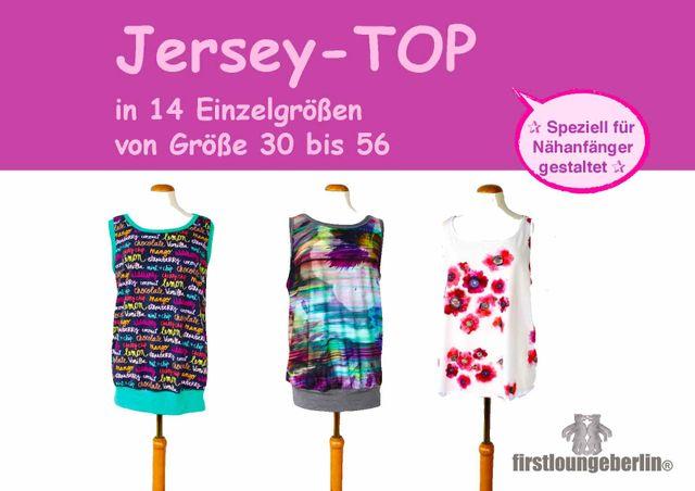 Produktfoto von Firstlounge Berlin zum Nähen für Schnittmuster Jersey.TOP