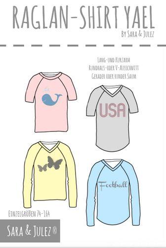 Produktfoto von Sara & Julez zum Nähen für Schnittmuster Raglan-Shirt Yael